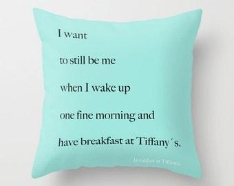Breakfast at Tiffanys Decor, Velvet Pillow Cover, Aqua Pillows, Dorm Room, Girls Bedroom, Teen Girl Room Decor, Housewarming, Gifts for Her