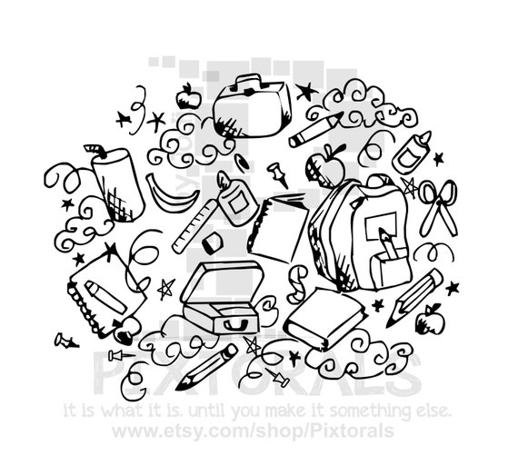school doodle png transparent background eps file and