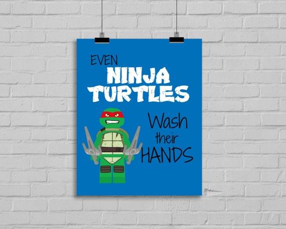 Ninja Turtles Bathroom Prints Kids By SimplyLoveCreations