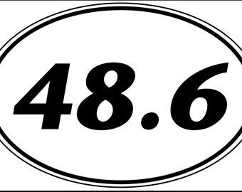 48.6 - Dopey Challenge Bumper Sticker - Original Style