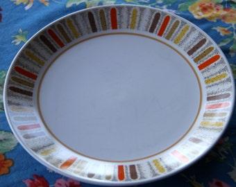 Vintage 1960's Noritake Mardi Gras 9019 Dinner Plate
