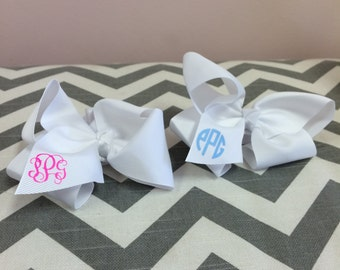 Monogram Baby Headband - Stretchy HeadBand with Bow - Initials - Baby Gift