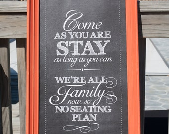 "Wedding Reception Seating Plan Sign, INSTANT DOWNLOAD, 12""x24"", Printable, DIY, Sign, Seating Plan, Chalkboard, Vintage"