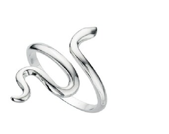 Snake adjustable solid silver ring can be adjusted to all sizes