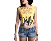 Nightmare Before Christmas Crop Top Tank Shirt Cropped Tops S M L