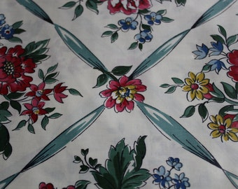 Vintage Cotton Chintz Quilt  Dress Fabric sold by the Yard