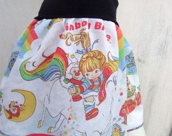 RAINBOW BRITE TuTu Skirt  made with vintage rupurposed fabric