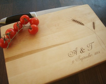 Handmade Cutting Board. Personalized Cutting Board. Custom engraved. Gift for Wedding, anniversary