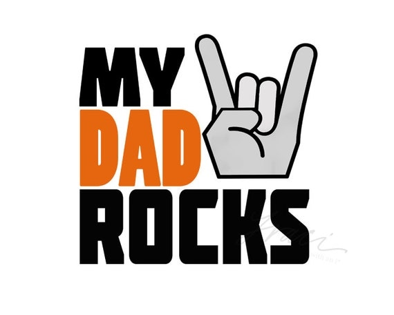 INSTANT DOWNLOAD Trendy My Dad Rocks by TraciWithaniDesigns