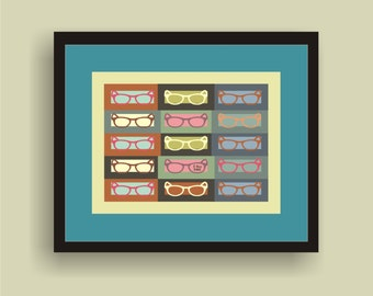 I See You - Pop Art Original Print by C Wiedenheft comes with a white mat and ready to frame.