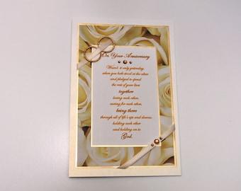 Golden Ring Anniversary Card