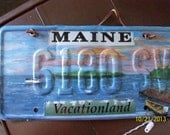 """Reused License Plate """"Homecoming"""""""