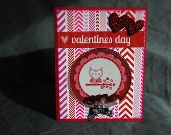 Owl Shaker Valentine Card
