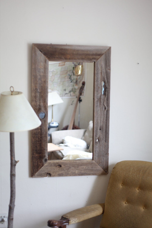 Barn Wood Mirror Rustic Home Decor: Handmade Large Recycled Barn Wood Mirror By Thehandsofman