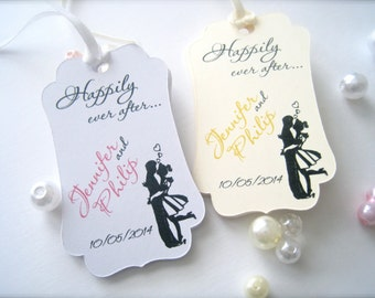 Wedding favor tags, favor tags, gift tags, bridal shower favor tags, custom party favor tags - 30 count