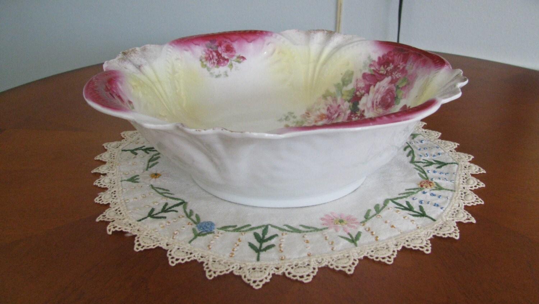 Antique sorau brandenburg germany porcelain bowl white