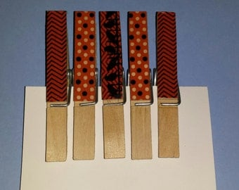 Fall/halloween clothespins- Set of 5