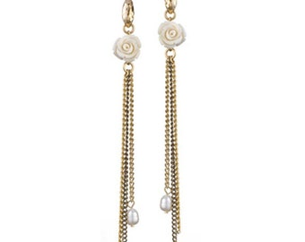 Delicate suspending Gold Plated Earrings