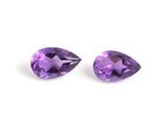 Uruguayan Amethyst Pear Cut Loose Gemstones Set of 2 1A Quality 5x3mm TGW 0.20 cts.