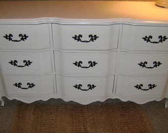 EXAMPLE French White Dresser Dresser Shabby Chic 9 DrawerChanging Table media Console Elegant Dresser