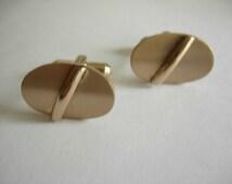1960s  Gold Rockabilly Cuff Links