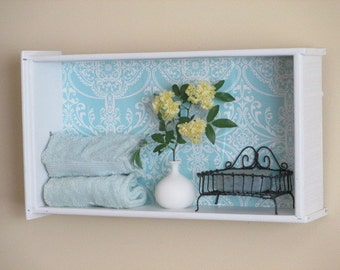Antique Drawer Repurposed Into Shelf
