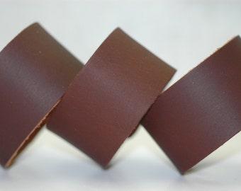Wholesale 1.5 Inch Wide Genuine DARK BROWN oil tan Leather Cuff Bracelet - Cuff Wristband -3 Cuffs