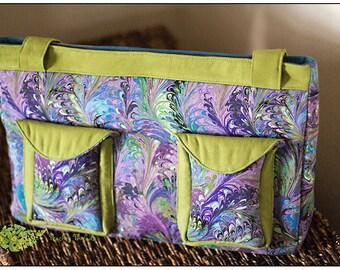 Paparazzi Camera Bag.Padded Camera Bag.Cotton.Purple and Green.Zippered Pocket.Ready to Ship!