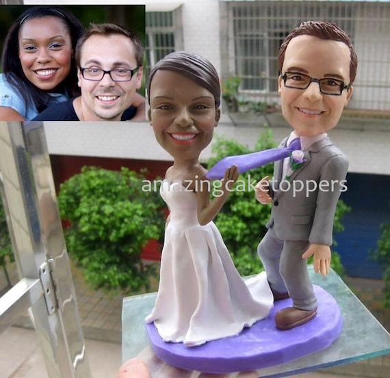 gteau personnalis toppers drle 3d wedding cake topper figurine gteau dcoration mariage souvenir - Figurine Mariage Personnalise