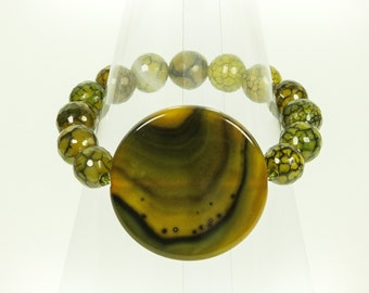 Faceted stretch gemstone bracelet.
