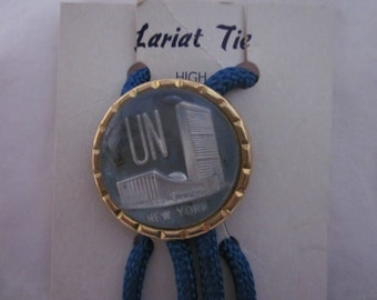 1940's Very Unusual United Nations Lariat Tie