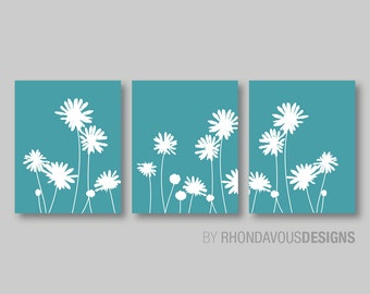 Flower Wall Art - Flower Decor - Flower Bedroom Art - Flower Bathroom Art - Flower Nursery Art - You Pick the Size & Colors (NS-284)