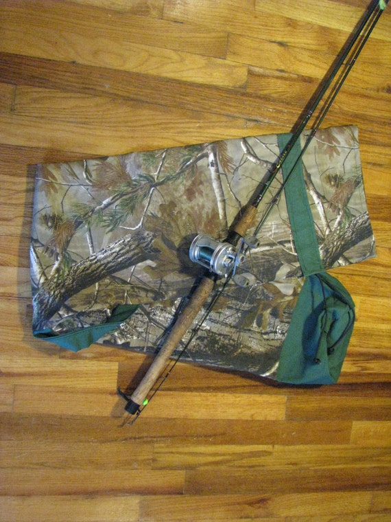 Items similar to sale camo fishing pole holder bag for Camo fishing pole