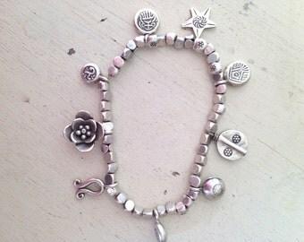Thai Silver Charm Bracelet