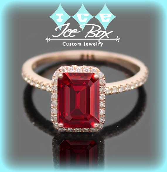 Cultured Pigeon Blood Ruby Engagement Ring 15ct By InTheIceBox