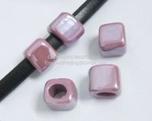 5pcs Purple licorice findings Handmade ceramic beads in hole size 10*8mm