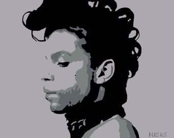 Prince - Limited Edition canvas print (A2) from original hand painted acrylic canvas