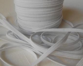 White Skinny Elastic , 1/8 inch Elastic, elastic webbing,Lace for Headbands,Wholesale Headbands,diy