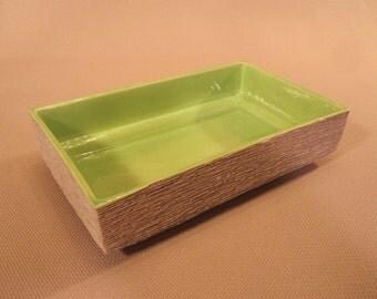 Classic 70's Ruff-Ware Ceramic Storage Tray by Spira of California