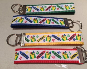 Crayon Box Keychain - Great Back to School Teacher Gift!
