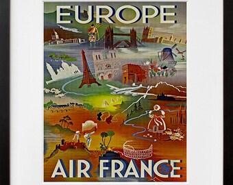 Europe Travel Poster Art Tourism Print (TR33)