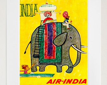 India Travel Print Poster Wall Art (XR145)