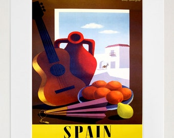 Spain Travel Poster Home Decor Spanish Wall Art Print (ZT532)