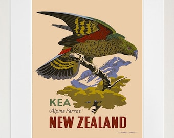 New Zealand Art Sign Wall Decor Travel Poster Print (XR318)