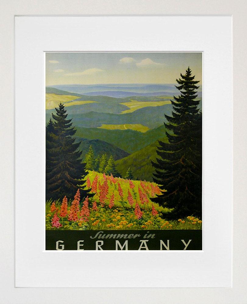 Germany Travel Art Sign Wall Decor German Poster Print XR310