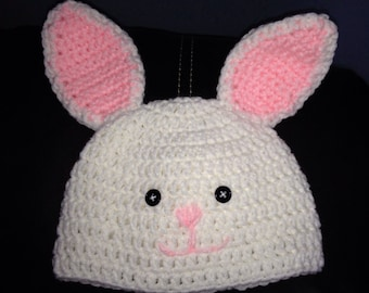 Adorable bunny hat for baby.