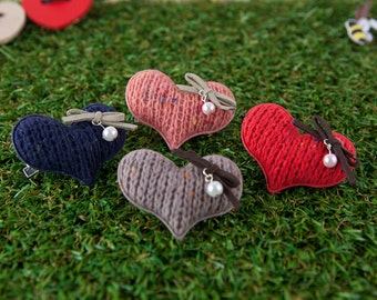 Hair Clip for Kids, Valentines Day Gift, Mini Heart Hair Clips