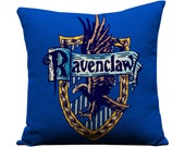 Harry Potter, Ravenclaw, Hogwarts, J.K. Rowling, Movies, throw pillows, decorative pillows, birthday, christmas, harry potter movies