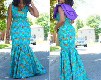 Ankara mermaid Dress