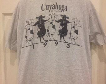 Vintage 1993 Cuyahoga County Fair T-shirt